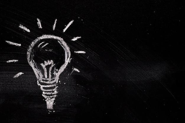 Ampoule crayeuse peinte Photo gratuit
