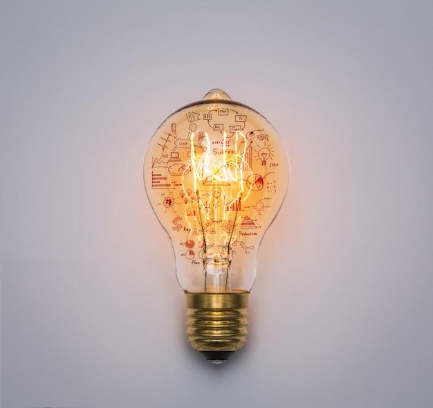 Ampoule Avec Le Graphique De Dessin Photo gratuit
