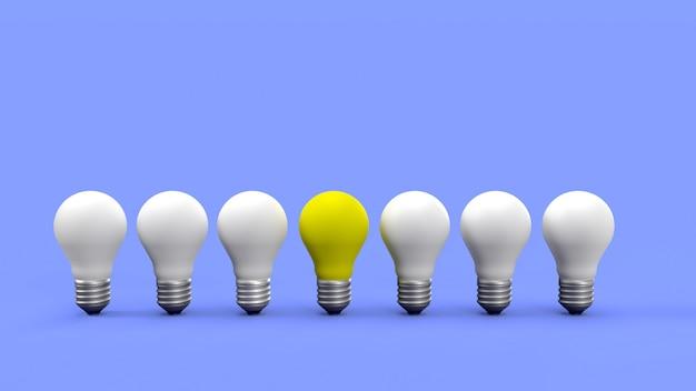 Ampoule Jaune Exceptionnelle Photo Premium