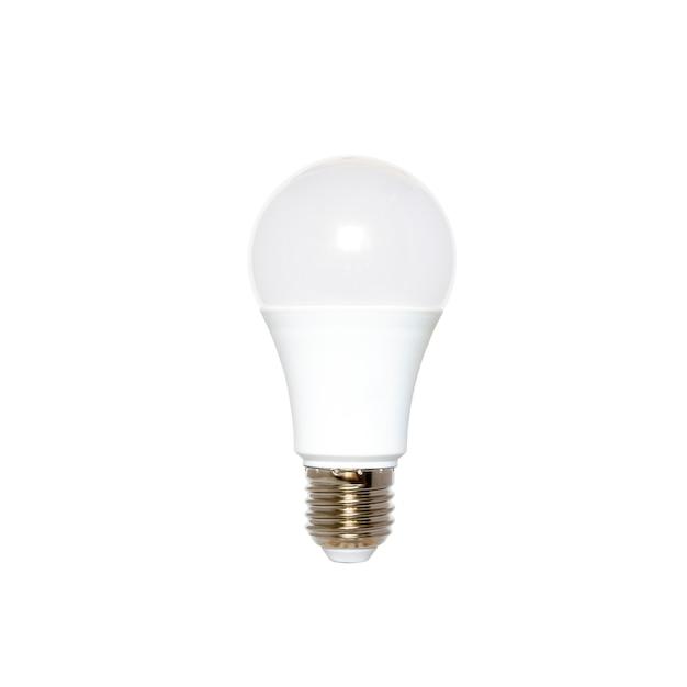 Ampoule led isolée sur fond blanc éclairage économiseur d'énergie Photo Premium