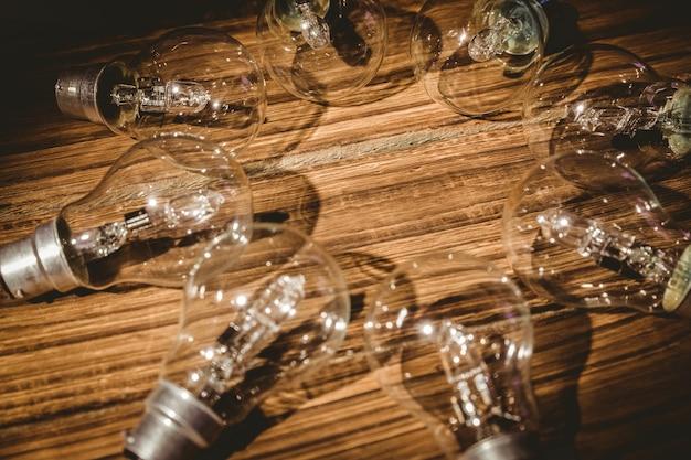Ampoules formant cadre Photo Premium