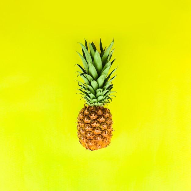Ananas aux feuilles vertes Photo gratuit