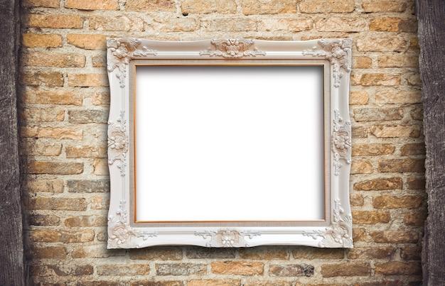 Ancien cadre photo en bois rutic vintage Photo Premium