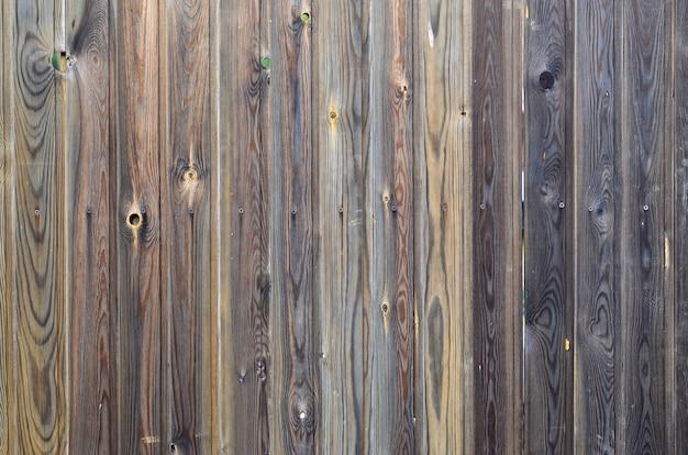 Ancien motif de panneau en bois brun foncé grunge avec une texture de surface magnifique grain abstrait Photo Premium