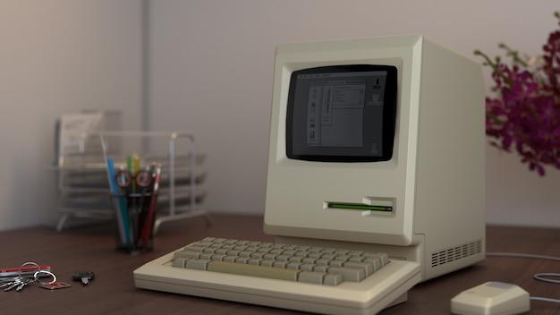 Ancien ordinateur de bureau Photo Premium