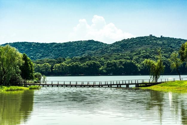 Ancien Pont Dans Le Parc Chinois Photo gratuit