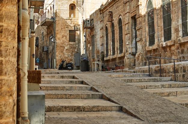 Ancienne Allée Du Quartier Juif De Jérusalem Photo Premium
