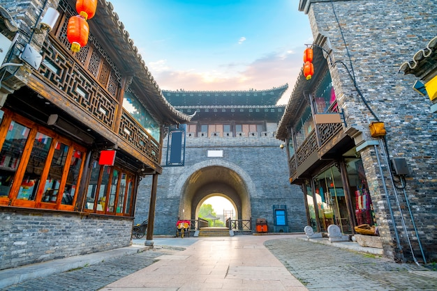 Ancienne ville, vieille rue de dongguan, yangzhou, chine Photo Premium