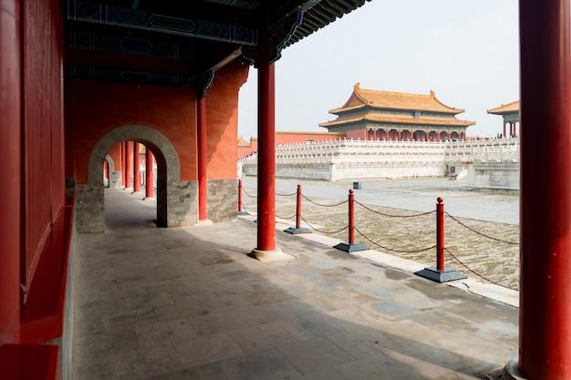 Anciens palais royaux de la cité interdite à beijing, chine. Photo Premium