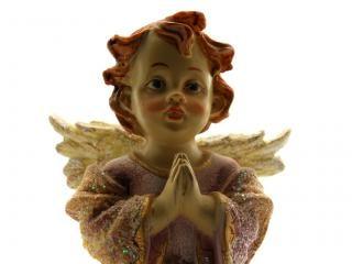 Ange en céramique, en rêvant Photo gratuit