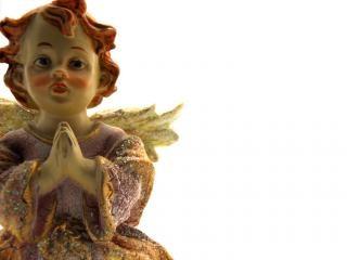 Ange en céramique Photo gratuit