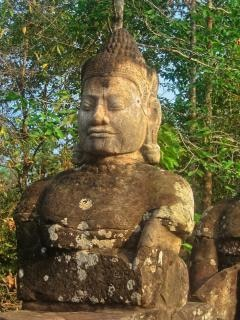 Angkor wat sculpture hdr blackwhite Photo gratuit