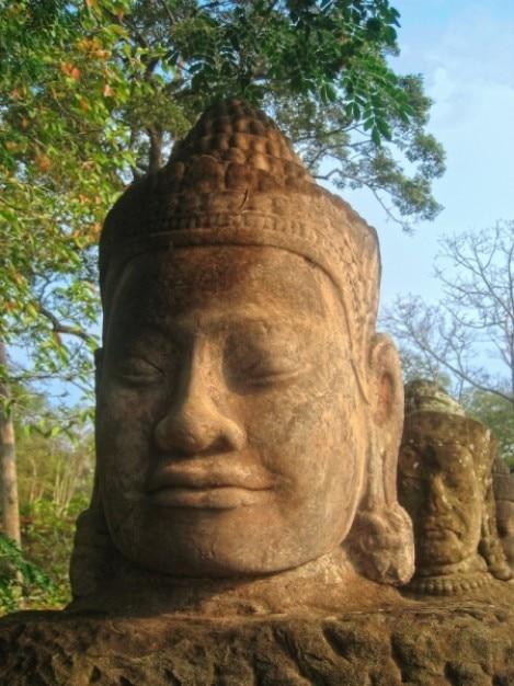 Angkor wat sculpture hdr Photo gratuit
