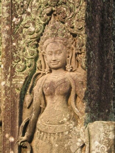 Angkor wat sculpture Photo gratuit