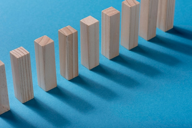 Angle élevé Des Pièces De Domino Photo gratuit