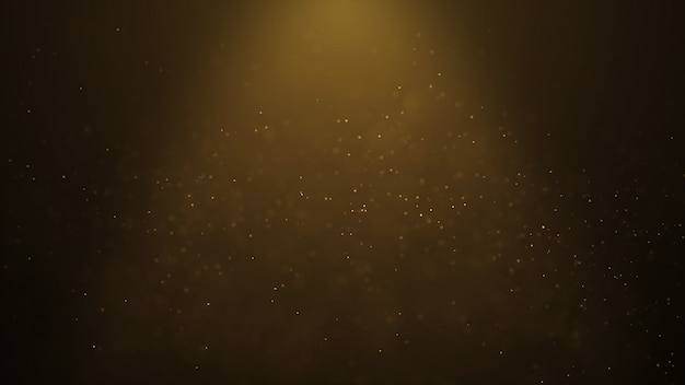 Animation abstraite populaire fond abstrait brillant particules de poussière d'or étoiles étincelles vague 3d Photo Premium