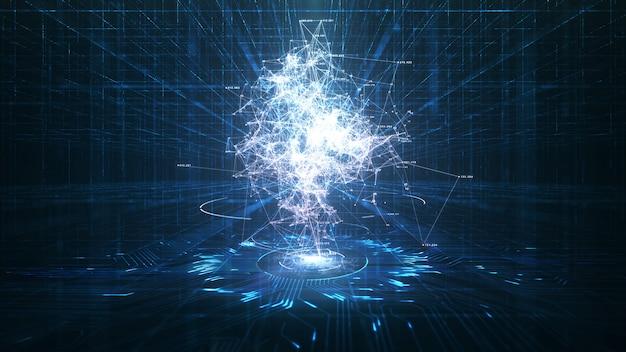 Animation D'intelligence Artificielle Et Big Data Photo Premium