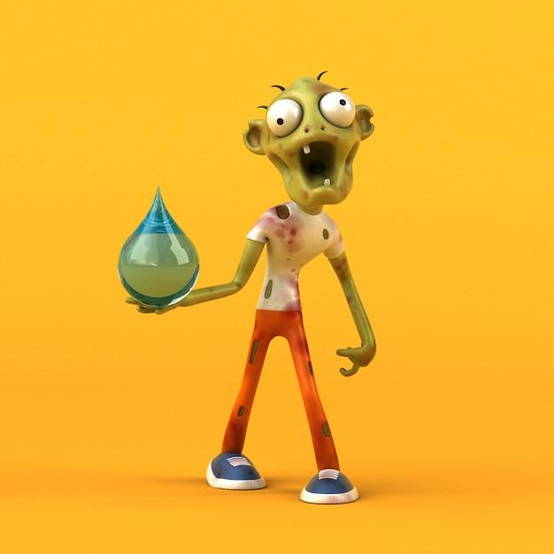 Animation Zombie Amusante Photo Premium