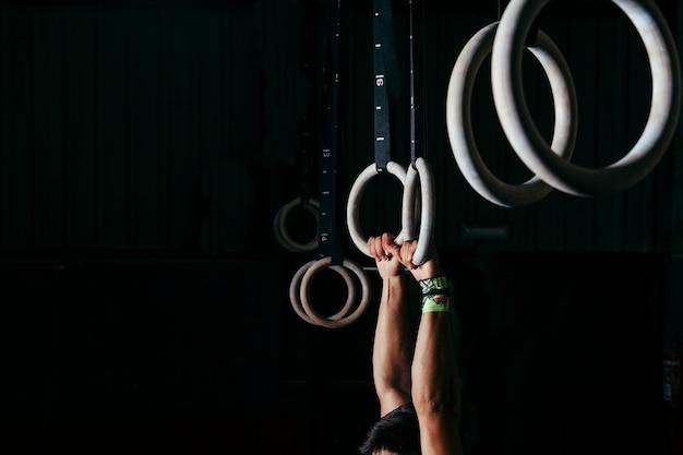 Anneaux pour la gymnastique Photo gratuit