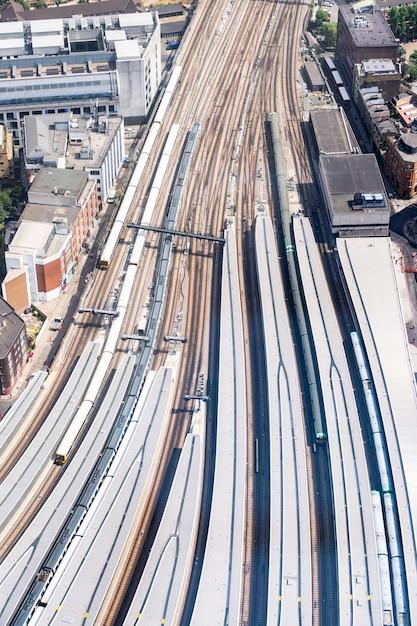 Antenne train angleterre Photo Premium