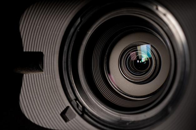 Appareil photo et objectif zoom, photo en gros plan Photo Premium