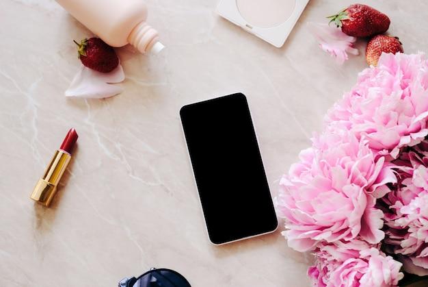 Un appartement de beauté avec un journal intime Photo Premium