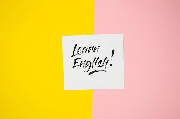 Apprendre l'anglais maquette Photo gratuit