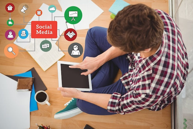Apps Travail Social Media Tenant Profession Photo gratuit