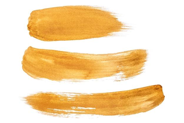 Aquarelle abstraite sur fond blanc en utilisant du café peint sur papier Photo Premium