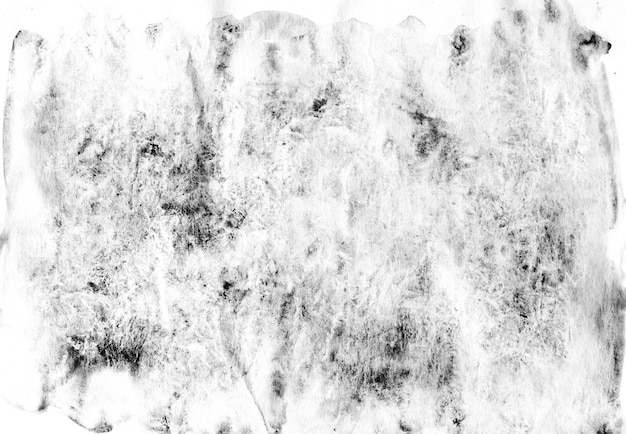 Aquarelle abstraite peinte en noir et blanc Photo Premium