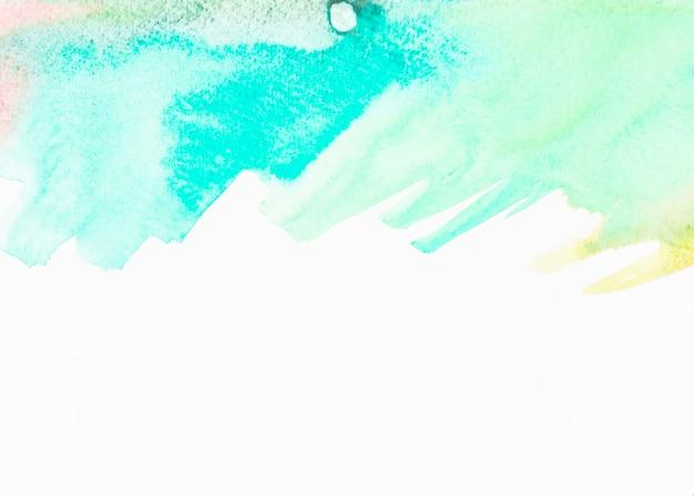 Aquarelle abstraite turquoise sur fond blanc Photo gratuit