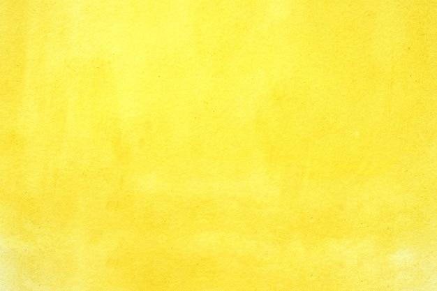 Aquarelle en arrière-plan, aquarelle abstraite jaune d'art texturé Photo Premium