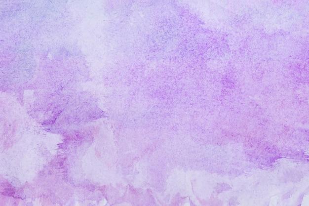 Aquarelle Art Main Peinture Fond Violet Photo Premium