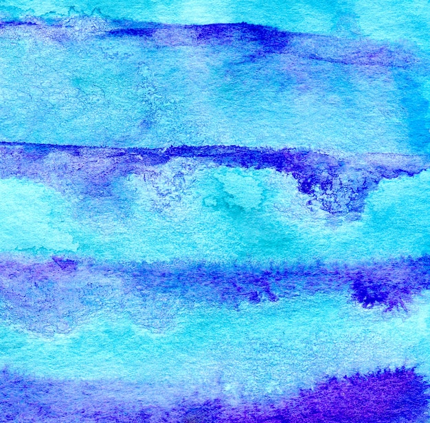 Aquarelle bleue peint un fond rayé. couleurs vives. Photo Premium