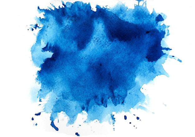 Aquarelle bleue Photo Premium