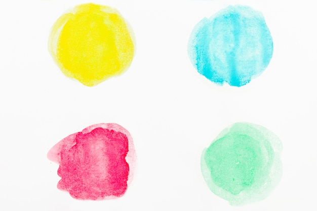 Aquarelle fond abstrait cercles Photo gratuit