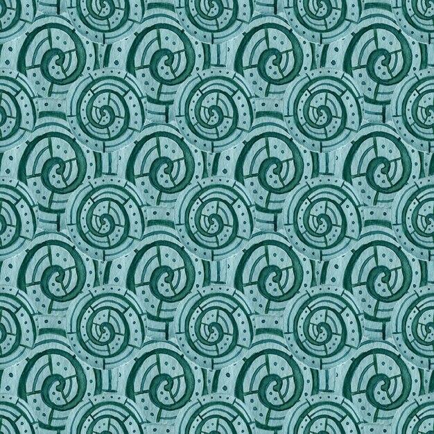 Aquarelle motif sans soudure géométrique. design textile moderne de couleur turquoise Photo Premium