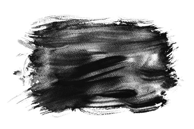 Aquarelle noire éclaboussant, dessin à la main Photo Premium