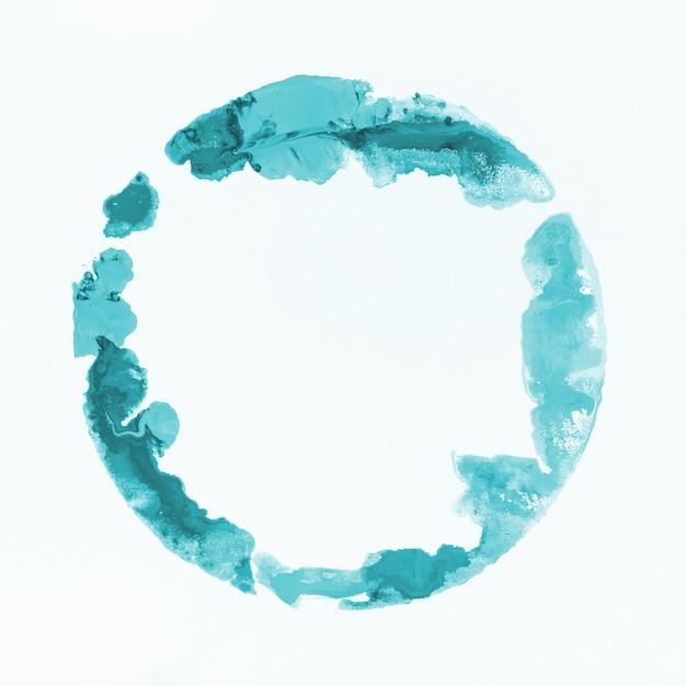 Aquarelle tache bleu clair Photo gratuit