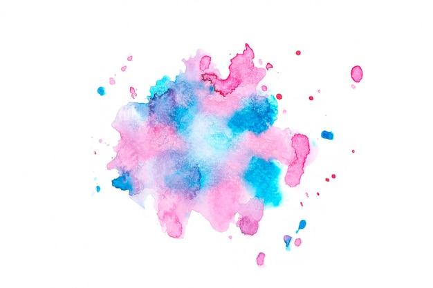 Aquarelle Tache Avec Des Nuances De Couleur Peinture Fond   Photo Premium