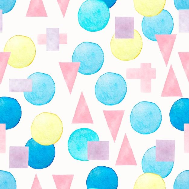 Aquarelle transparente motif abstrait coloré. Photo Premium