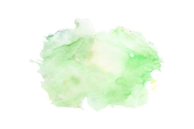 Aquarelle verte sur fond blanc Photo gratuit