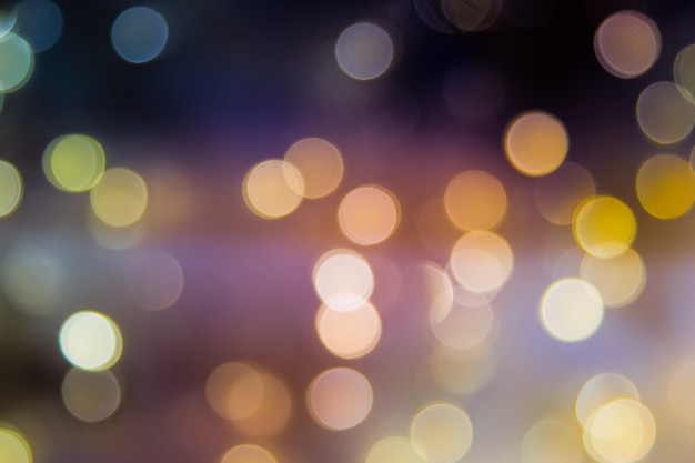 Arbre de noël abstrait flou orné d'une boule disco miroir Photo Premium