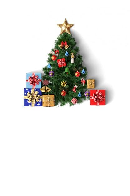 Arbre De Noël Et Décoration Joyeux Chirstmas Carte Photo Premium