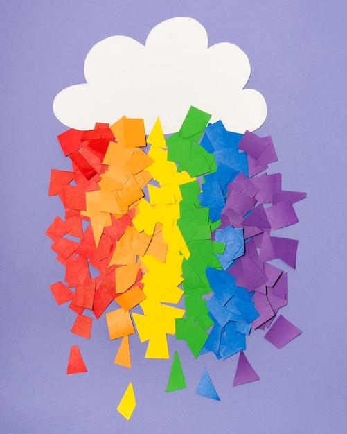 Arc-en-ciel De Fierté Gay Coloré Composé D'autocollants Photo gratuit