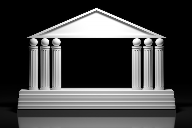 Arc grec de style ancien, arcade de colonne Photo Premium
