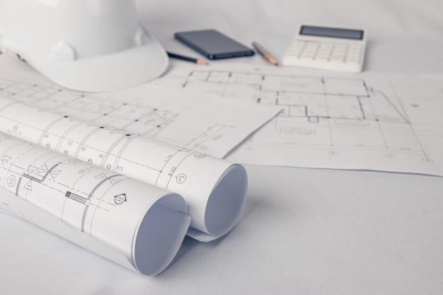 Architecte, concept ingénieur, représente le style de travail des architectes Photo Premium