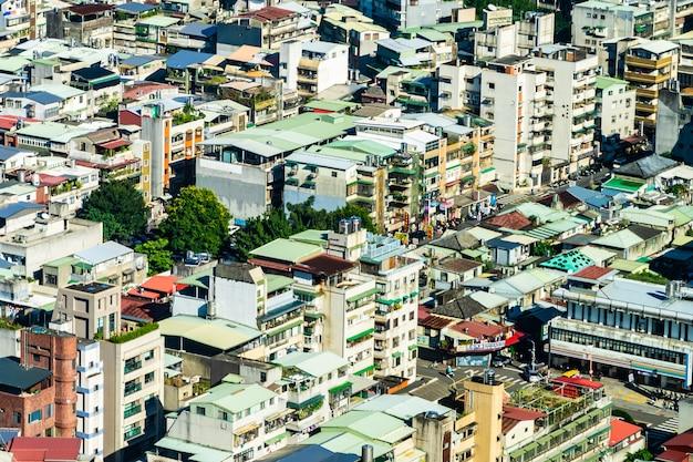 Architecture bâtiment extérieur dans la ville de taipei à taiwan Photo gratuit