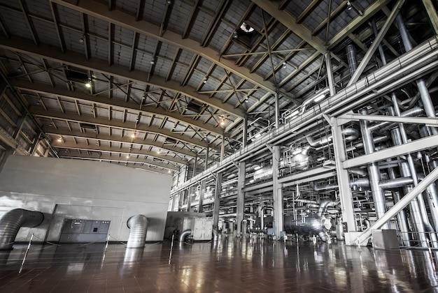 Architecture Du Système De Tuyauterie De Centrale Pour L'industrie Photo Premium