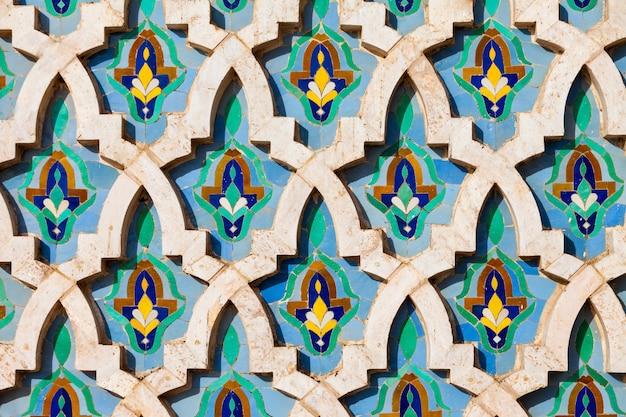Architecture de la mosquée hassan Photo Premium